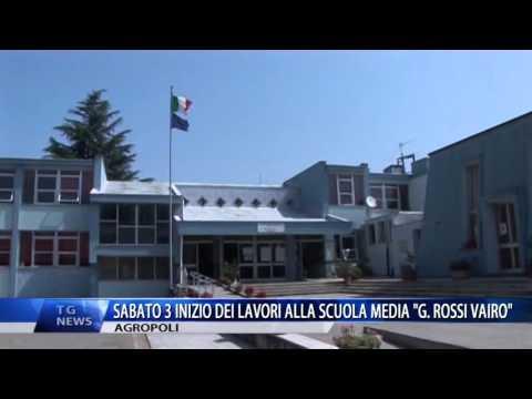 AGROPOLI SABATO 3 INIZIO LAVORI ALLA SCUOLA MEDIA G ROSSI VAIRO