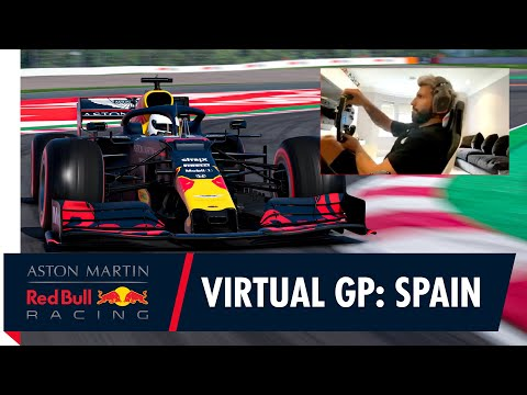Sergio Agüero teams up with Alex Albon for the Spanish F1 Virtual Grand Prix