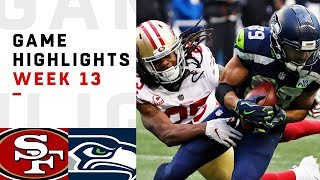 49ers vs. Seahawks Week 13 Highlights | NFL 2018