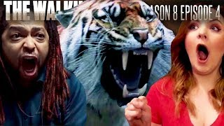 The Walking Dead: Season 8 Episode 4 Shiva Fan Reaction Compilation