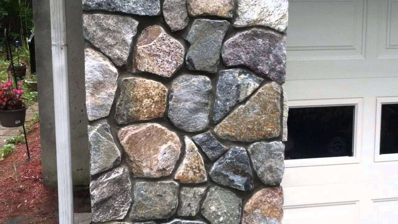 Stone Veneer Installation On A Poured Concrete Foundation