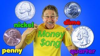 The Money Song | Penny, Nickel, Dime, Quarter | Jack Hartmann Money Song