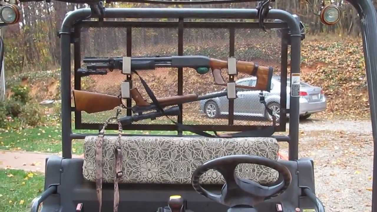 Diy Gun Rack For The Kubota Rtv 900 Youtube