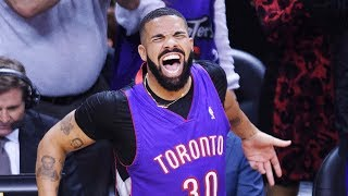 Drake busts out more courtside antics in NBA Finals