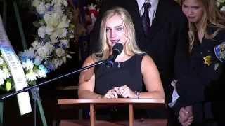 Sgt. Lunger's Funeral: Daughter Ashton