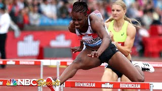 Danielle Williams ties Birmingham meet record in 100m hurdles | NBC Sports
