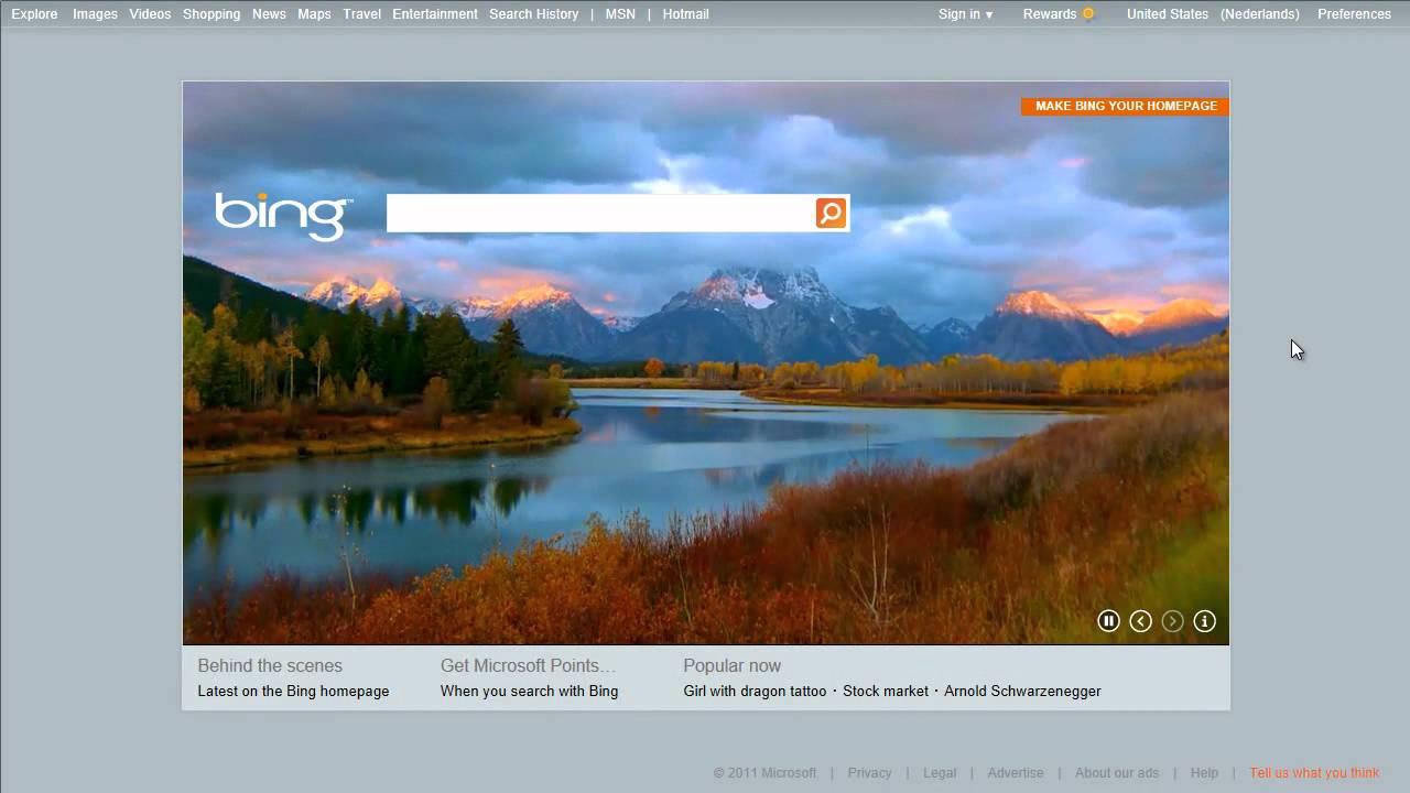 Video On Homepage Bing