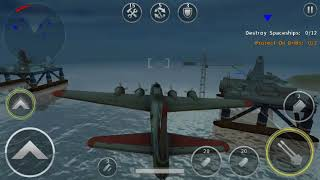 Gunship Battle 3D Episode 5 Mission 6 Resource Conservation - Flying Fortress in action