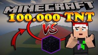 100.000 TNT VS 1 HẮC DIỆN THẠCH - Minecraft Nghịch Ngu