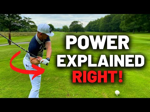 True POWER in the golf swing comes from this!! You can do it too!