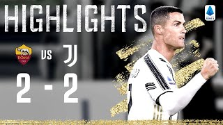 Roma 2-2 Juventus   Ronaldo Levels Twice with Penalty and Stunning Header!   Serie A Highlights