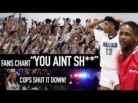 YG Watches Most TURNT Game Of The YEAR! BRAWL Breaks Out + SAVAGE CROWD Forces COPS To Come!