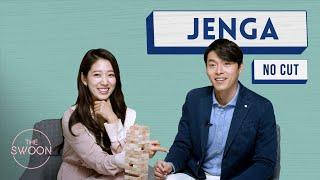 Park Shin-hye and Hyun Bin Play Jenga - No Cut [ENG SUB CC]