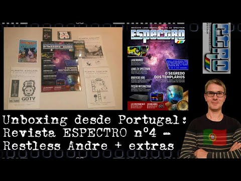 Reseñas de Papel: Unboxing desde Portugal de la Revista ESPECTRO nº4 - Restless Andre + extras