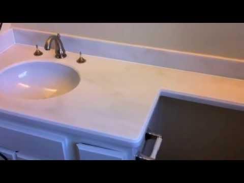 Refinish Countertops To Look Like Granite Youtube