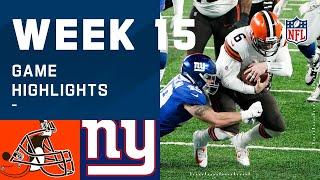 Browns vs. Giants Week 15 Highlights | NFL 2020