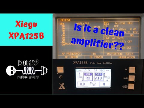 Xiegu XPA125B Signal Purity Test