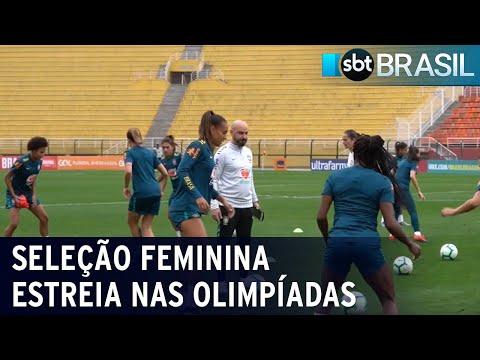 Olimpíadas: seleção brasileira feminina de futebol estreia na quarta-feira | SBT Brasil (20/07/21)