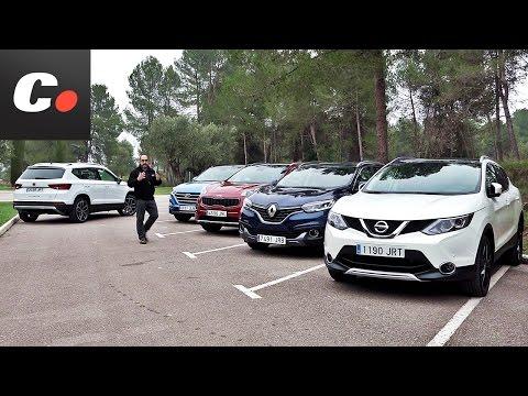 Seat Ateca vs Nissan Qashqai, Hyundai Tucson, Kia Sportage, Renault Kadjar | Prueba SUV 4x4