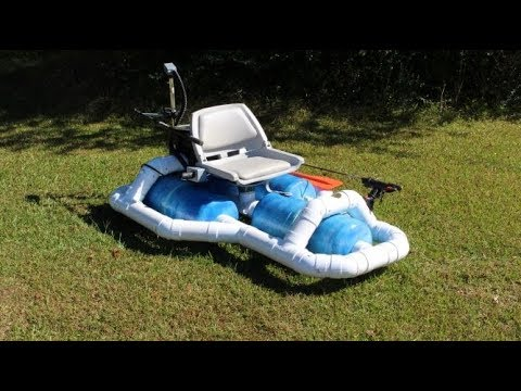 Homemade solar powered fishing boat