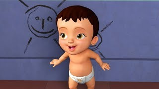Chitti's First Drawing Kids Song | Kannada Rhymes for Children | Infobells