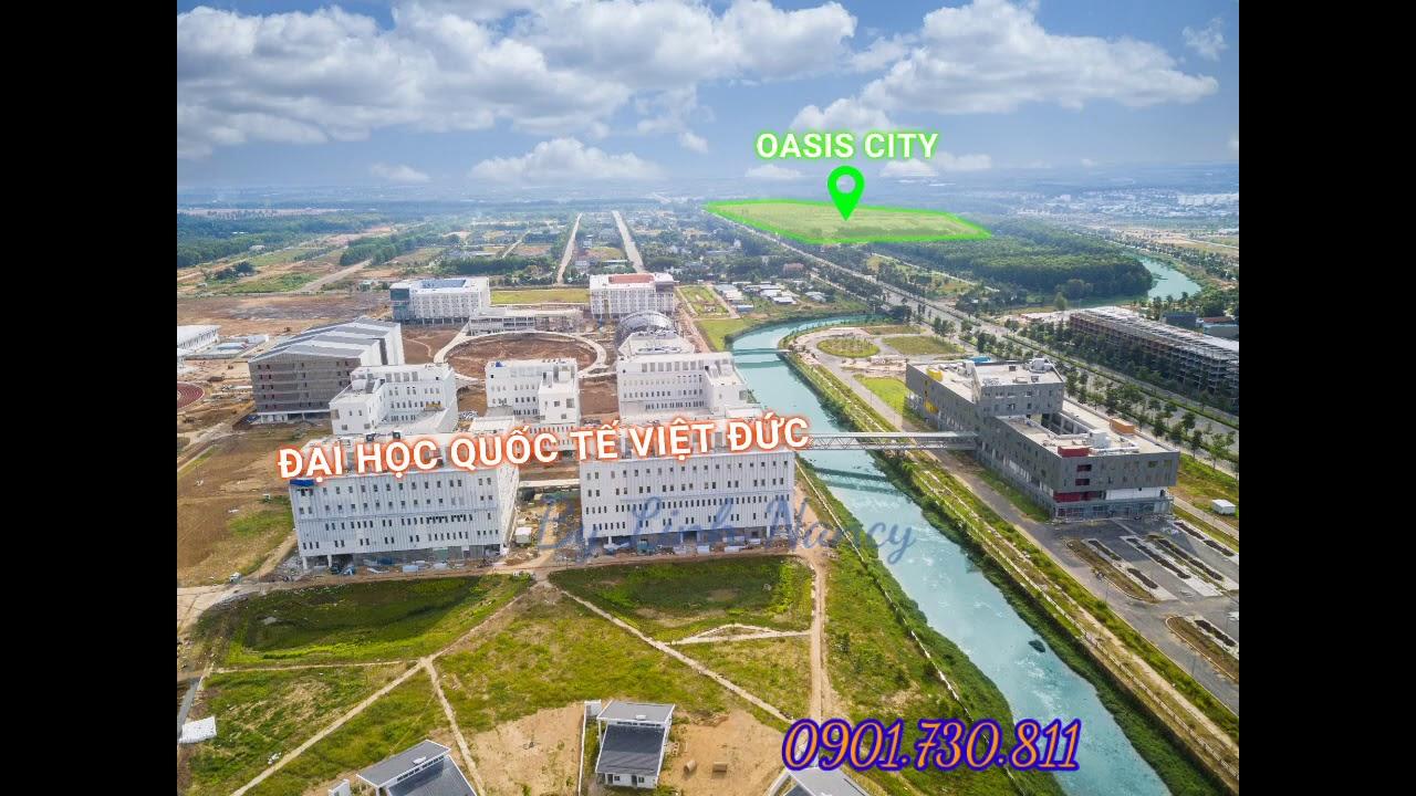Chuyên bán nhà phố kinh doanh tại dự án Oasis City, đối diện Đại học Việt Đức, Mỹ Phước 4 video
