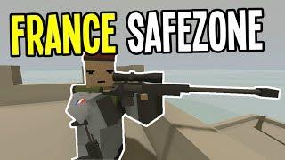 Unturned - MILITARY ISLAND SAFEZONE - Unturned France Map Playthrough - Episode 2