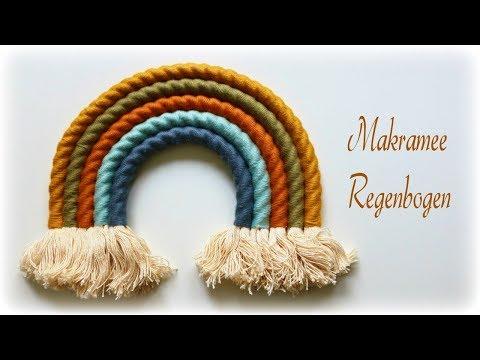 Makramee Regenbogen * DIY * Fiber Rainbow