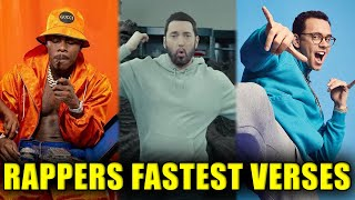Rappers' Fastest Verses