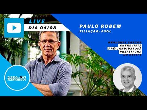 Rhaldney Santos entrevista o pré-candidato à prefeitura do Recife  Paulo Rubem