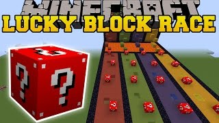Minecraft: EXTREME RED LUCKY BLOCK RACE - Lucky Block Mod - Modded Mini-Game