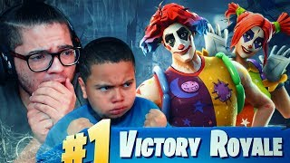 *NEW* CLOWN SKINS ARE INSANE! 10 YR OLD BROTHER IS SCARED OF THEM 😂 FORTNITE BATTLE ROYALE 24 KILLS