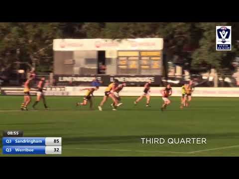 Round 8 highlights: Sandringham vs Werribee