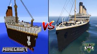 MINECRAFT TITANIC VS GTA 5 TITANIC - WHICH IS BEST?