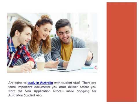 Documents Required to Apply for Australian Student Visa