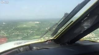 Airplane engine failure - Emergency landing - Cockpit view