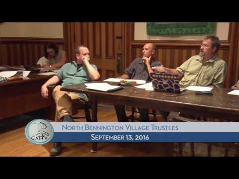 North Bennington Village Trustees - 9/13/16