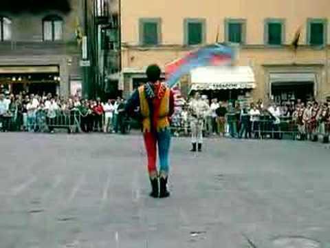 Sbandieratori di Arezzo a Cortona (Duetto)