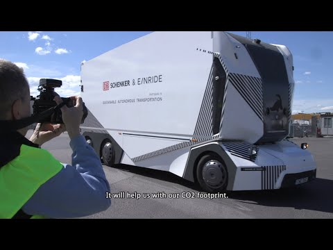 World premiere - Autonomous and fully electric truck on public road
