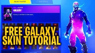 """How to get """"GALAXY SKIN FREE"""" *STILL WORKS* - Fortnite Battle Royale"""