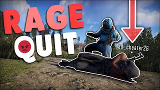 I MADE a CHEATER RAGE QUIT before BANNING THEM! - Rust