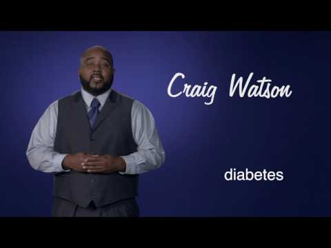 Craig Watson: I learned to control my diabetes without medication. (:30)