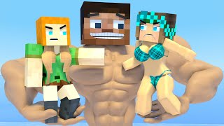 TOP 10 : Minecraft life animation of Alex and Steve : The Best - Love Minecraft animation