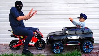 Funny Baby Unboxing Police Car Ride On Power Wheel Police Car for Kids