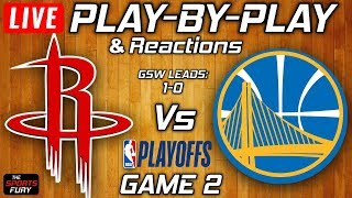 Rockets vs Warriors Game 2  | Live Play-By-Play & Reactions