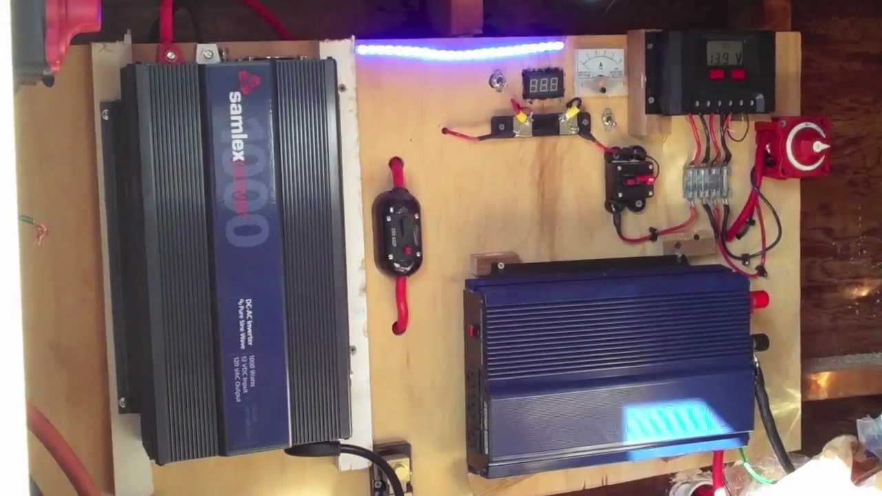 Solar Power System Harbor Freight Panels Youtube