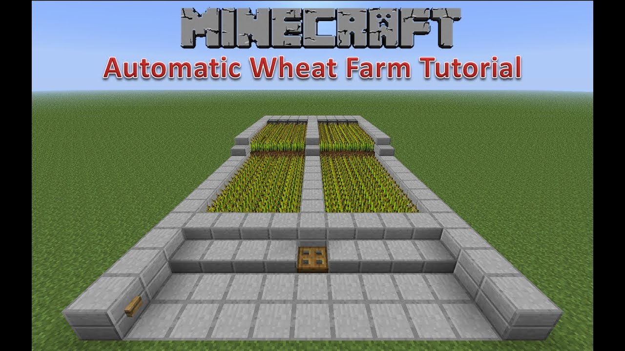 how to make a wheat farm on minecraft