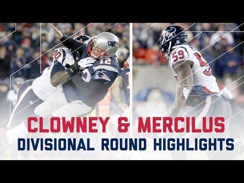 Clowney & Mercilus Explosive Game | Texans vs. Patriots | NFL Divisional Player Highlights