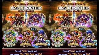 Brave Frontier Banner 8 pulls - Vargas Elza Seria Karl - Final Fantasy Brave Exvius FFBE