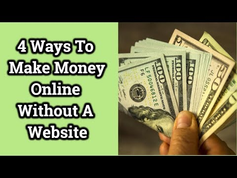 4 ways to make money online without a website